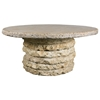 "Stone Stack 48"" Round Chat Table"