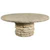 "Stone Stack 60"" Round Chat Table"