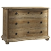 Salvaged Wood 3-Drawer Dresser - Molding, Bun Feet