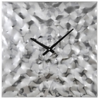Couture Wall Clock - Chrome Plated, Textured