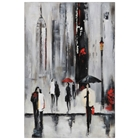 Bustling City I Oil Painting - Rectangular Canvas