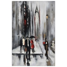 Bustling City II Oil Painting - Rectangular Canvas