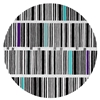 Bar Code - Black, White & Mixed 3 Rug