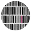 Bar Code - Black, White & Pink Rug