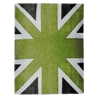 Union Jack - Green, White & Dark Grey Rug