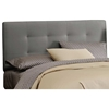 Lyra Headboard - Microsuede, Pull Tufts, Charcoal