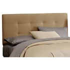 Lyra Headboard - Microsuede, Pull Tufts, Saddle
