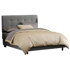 Lyra Bed - Microsuede, Pull Tufted Headboard, Charcoal