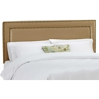 Andromeda Fabric Headboard - Nail Button Border, Khaki