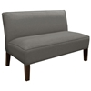 Cepheus Armless Settee - Twill Fabric, Gray
