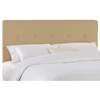 Cassiopeia Upholstered Headboard - Twill, Button Accents, Khaki