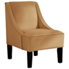 Crux Swoop Lounge Chair - Velvet, Honey