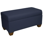 Sagittarius Upholstered Storage Bench - Twill, Navy