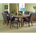Montibello 7 Piece Dining Set with Marble Table Top