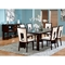 Delano Extending Dining Table with Square Cracked Glass Inserts - SSC-DE600T