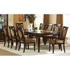 Montblanc 9 Piece Dining Set in Merlot Finish