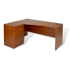 Pro X Left Crescent L-Shaped Desk with Filing Cabinet