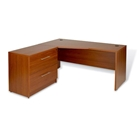 Pro X Left Crescent L-Shaped Desk with Lateral File Cabinet