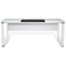 Pure Office 71'' Executive Desk - White Lacquer - UNIQ-X586-WH