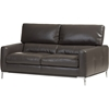 Vogue Bonded Leather Loveseat Settee - Pewter Gray