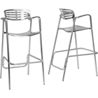 Ethan Aluminum Bar Stool - Non Swivel (Set of 2)