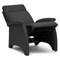 Sequim Modern Recliner Club Chair - Black - WI-A-060-BLACK