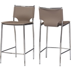 Montclare Bonded Leather Counter Stool - Taupe (Set of 2)