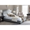 Aisling Fabric Platform Bed - Nailhead - WI-BBT6328-BED