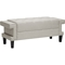 Norwich Linen Platform Bed - Bench, Button Tufted - WI-BBT6344-BBT5161-BENCH