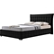 Monaco Faux Leather Queen Platform Bed - Black - WI-BBT6424-BLACK-QUEEN