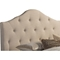 Anica Scalloped Fabric Platform Bed - Button Tufted - WI-BBT6483-BED