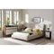 Hannah Linen Platform Bed - Button Tufted, Beige - WI-BBT6570-BEIGE