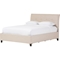 Lea Queen Storage Platform Bed - Beige - WI-BBT6572-BEIGE-QUEEN-STORAGE-BED