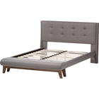 Reena Platform Bed - Built-In Bench, Button Tufted