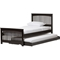 Hevea Twin Bed - Trundle Bed, Wenge - WI-BED3-TWIN-WENGE