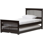 Hevea Twin Bed - Trundle Bed, Wenge