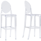 Infinity Plastic Bar Stool - Clear (Set of 2)