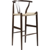 Wishbone Barstool - Dark Brown