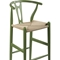Wishbone Barstool - Green - WI-BS-541A-DARK-GREEN