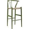 Wishbone Barstool - Green