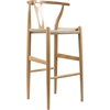 Wishbone Barstool - Natural