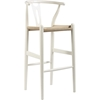 Wishbone Barstool - White