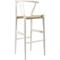 Wishbone Barstool - White - WI-BS-541A-WHITE