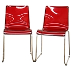 Lino Stackable Red Acrylic Dining Chair