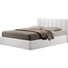 Templemore Leather Queen Platform Bed - White