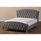 Hannah Upholstered Platform Bed - Gray, Button Tufted - WI-CF8730-GRAY-BED