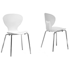 Boujan White Plastic Modern Dining Chair