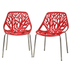 Birch Stackable Plastic Chair with Sapling Design