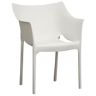 Belrose White Molded Plastic Arm Chair