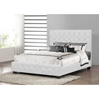 Manchester Faux Leather Platform Bed - Tufted